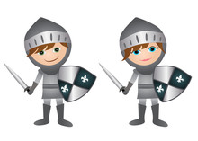 Medieval Knights- Boy And Girl