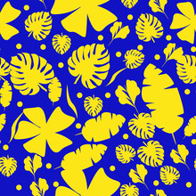 Tropical Leaves Pattern In  An...