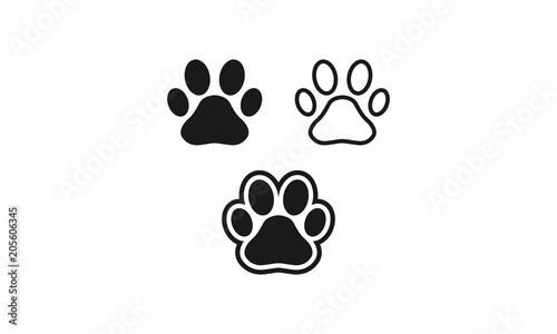Leinwand Poster Paw Print vector logo symbol icon