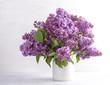Beautiful bouquet of fresh lilac flowers