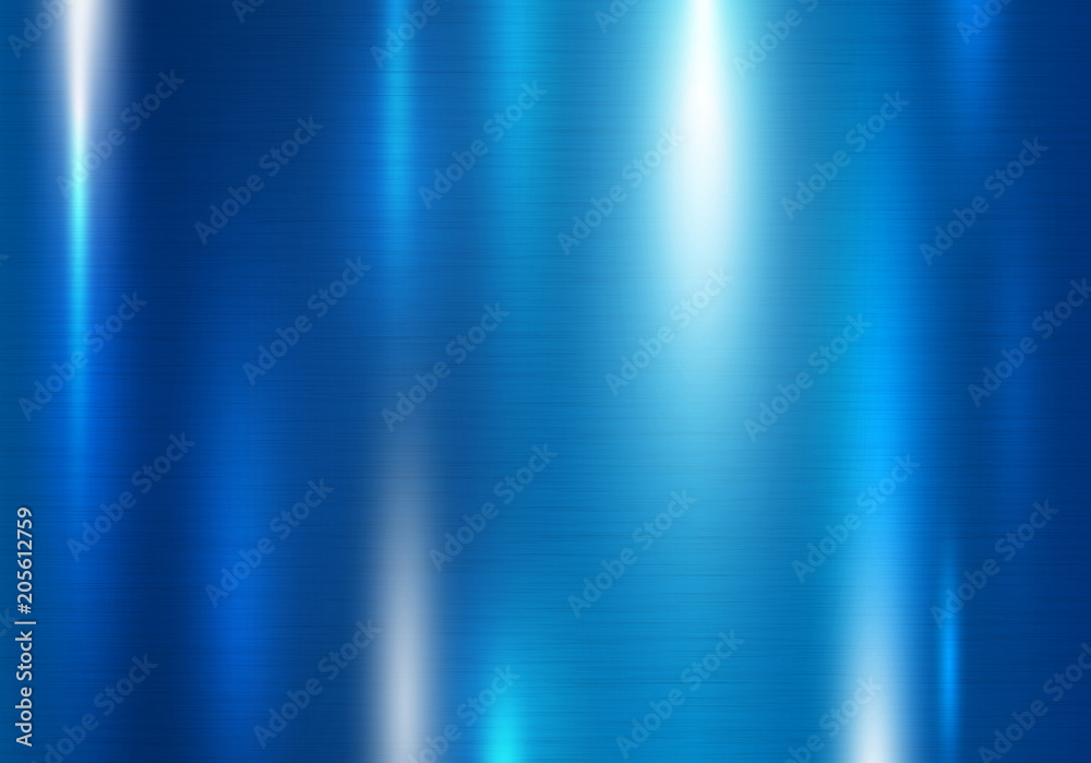Fototapety, obrazy: Blue metal texture background vector illustration