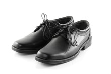 Shoes Black Leather Isolated O...
