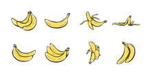 Set Of Banana Hand Drawn Icon ...