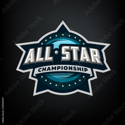 all star sports template logo design adobe stock でこのストック