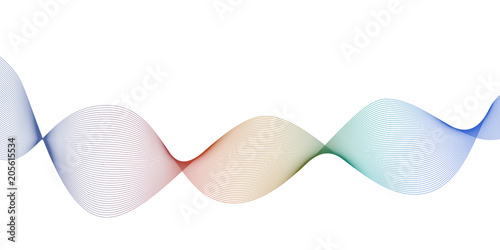 Fototapety, obrazy: Liquid flow wave abstract design element in rainbow colors