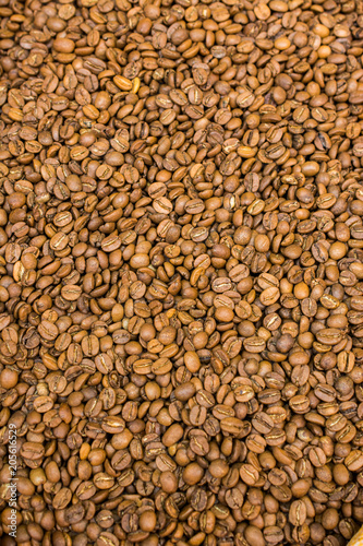 Coffee beans as a background texture #205616529
