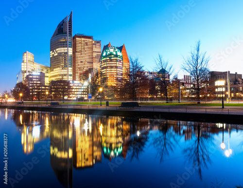 The Hague Skyline Canvas Print