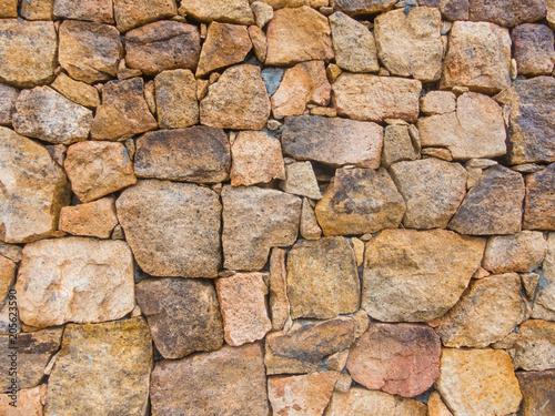 In de dag Stenen granite stone wall background rough texture concept