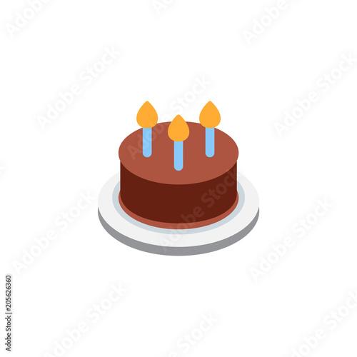 Marvelous Birthday Cake Homemade Sweet Dish Food Kids Dessert Bakery Vector Funny Birthday Cards Online Amentibdeldamsfinfo