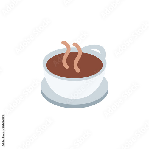 Photo Hot Beverage, cup of tea, coffee, glass, drink vector illustration flat icon sym