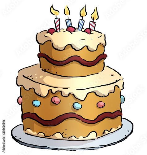 pastel de cumpleaños Fototapete