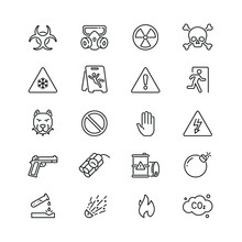 Warnings Related Icons: Thin V...