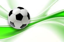 Football Background 3d Green W...