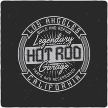 Vintage Label Design With Lett...