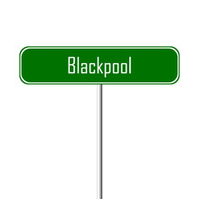 Blackpool Town Sign - Place-name Sign
