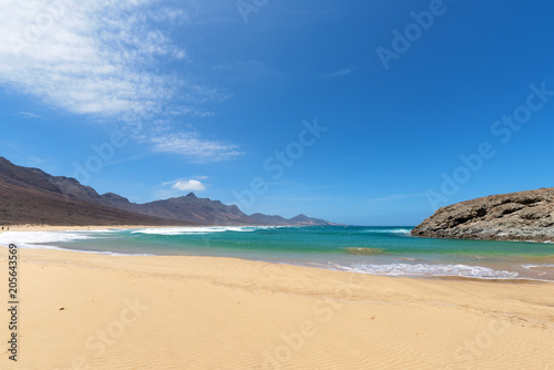 Printed kitchen splashbacks Canary Islands Partial view of Barlovento beach in Fuerteventura, Spain