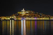 Ibiza Old Town At Night.