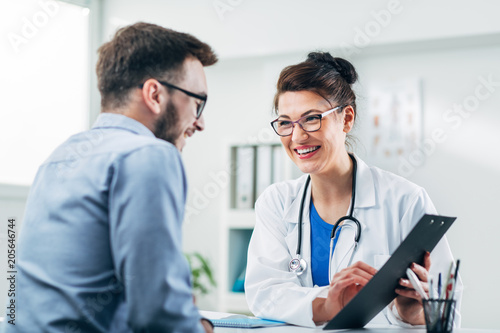 Doctor and patient Canvas Print
