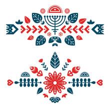 Nordic Ornaments, Folk Art Pat...