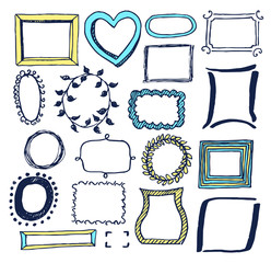 Set of Various Colorful Frames Vector Illustration