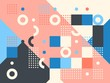 Colored abstract geometric flat pattern background