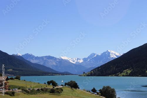 Fotomural lago montagna