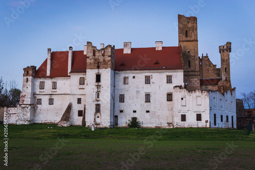 Side view of castle in Breclav town in South Moravian Region of Czech Republic Poster