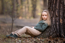 Girl Is Sitting Under The Tree...