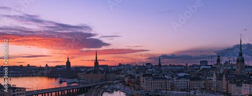Staande foto Stockholm Sunset at Stockholm, Sweden
