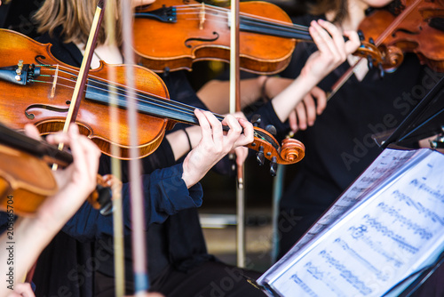 violin in orchestra