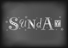 Lettering Of Sunday With Diffe...