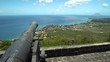 St Kitts Brimstone Hill Fortress National Park on St. Kitts and Nevis. Saint Kitts nature landscape