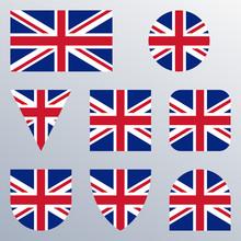 UK Flag Icon Set. British Flag...