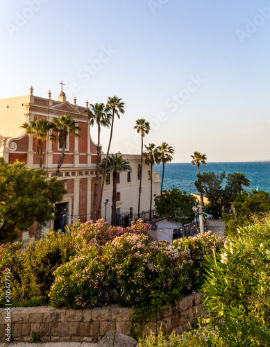 Foto op Canvas Midden Oosten Saint Peter church in Old Jaffa, Israel.