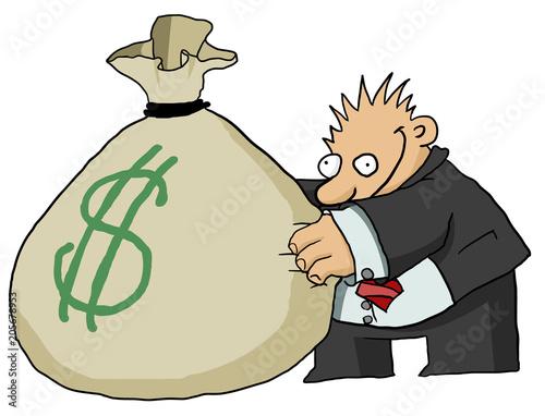 Fotografía Money Grabber Cartoon