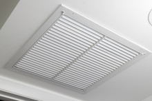White Ceiling Air Filter Vent Grid