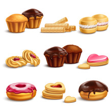 Cookies And Buisquits Realistic Set