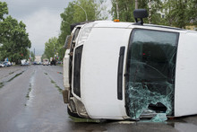 Inverted Car After An Accident