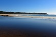 Australian Coastline Blackhead Beach with lagoon foreground