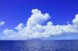 Leinwandbild Motiv 夏雲と海
