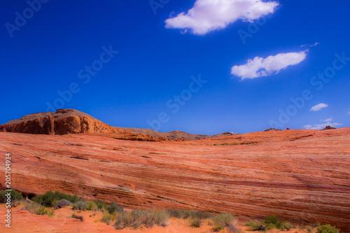 Foto op Canvas Koraal Desert Red Sandstone Hills