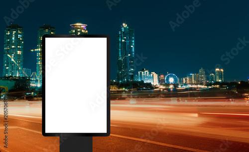 Fotografie, Obraz  banner or billboard advertising in the city
