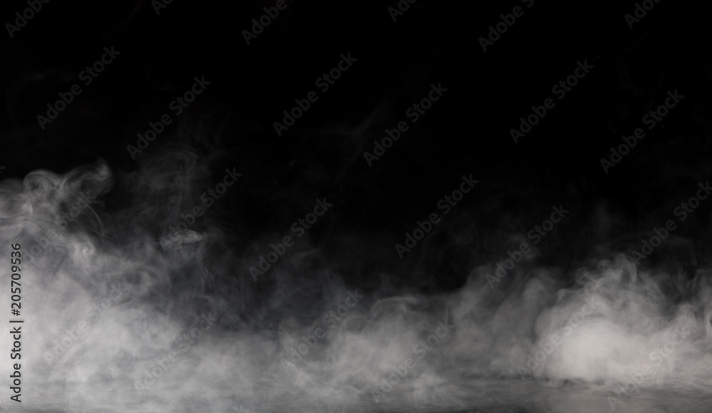 Fototapety, obrazy: Abstract Smoke on black Background