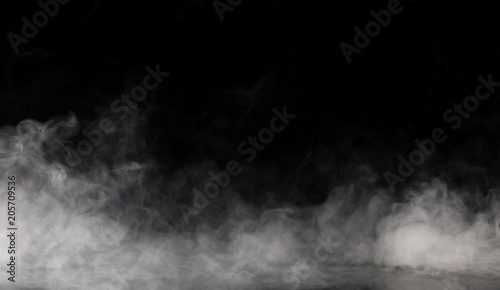 Photo Stands Smoke Abstract Smoke on black Background
