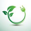 Green eco power plug design