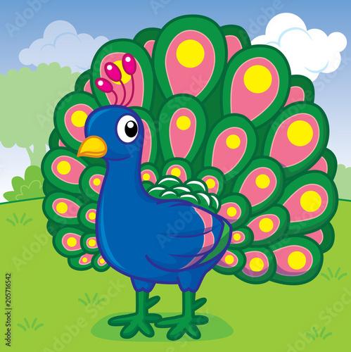 peacock cute vector cut cartoon buy this stock vector and explore similar vectors at adobe stock adobe stock peacock cute vector cut cartoon buy