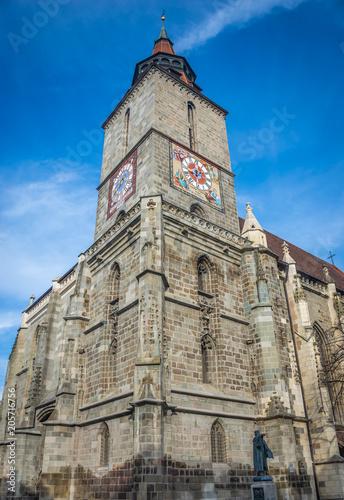 Staande foto Oude gebouw Black Church in Brasov, Romania