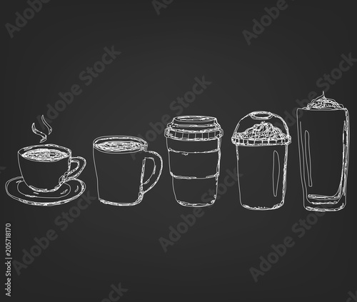 Filiżanka kawy napoje w rysunku