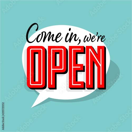 Pinturas sobre lienzo  Come in we're open
