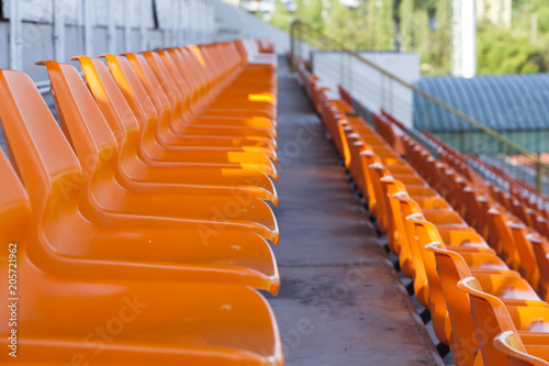 Papiers peints Stade de football orange seat of football stadium